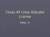 Texas All-Lines License - Dallas, TX